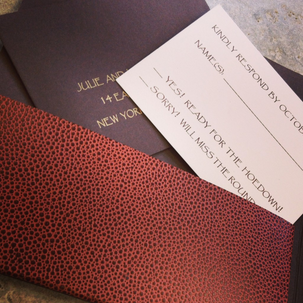 Custom Laser Cut Saddle Invitation by Natural Impression Design.