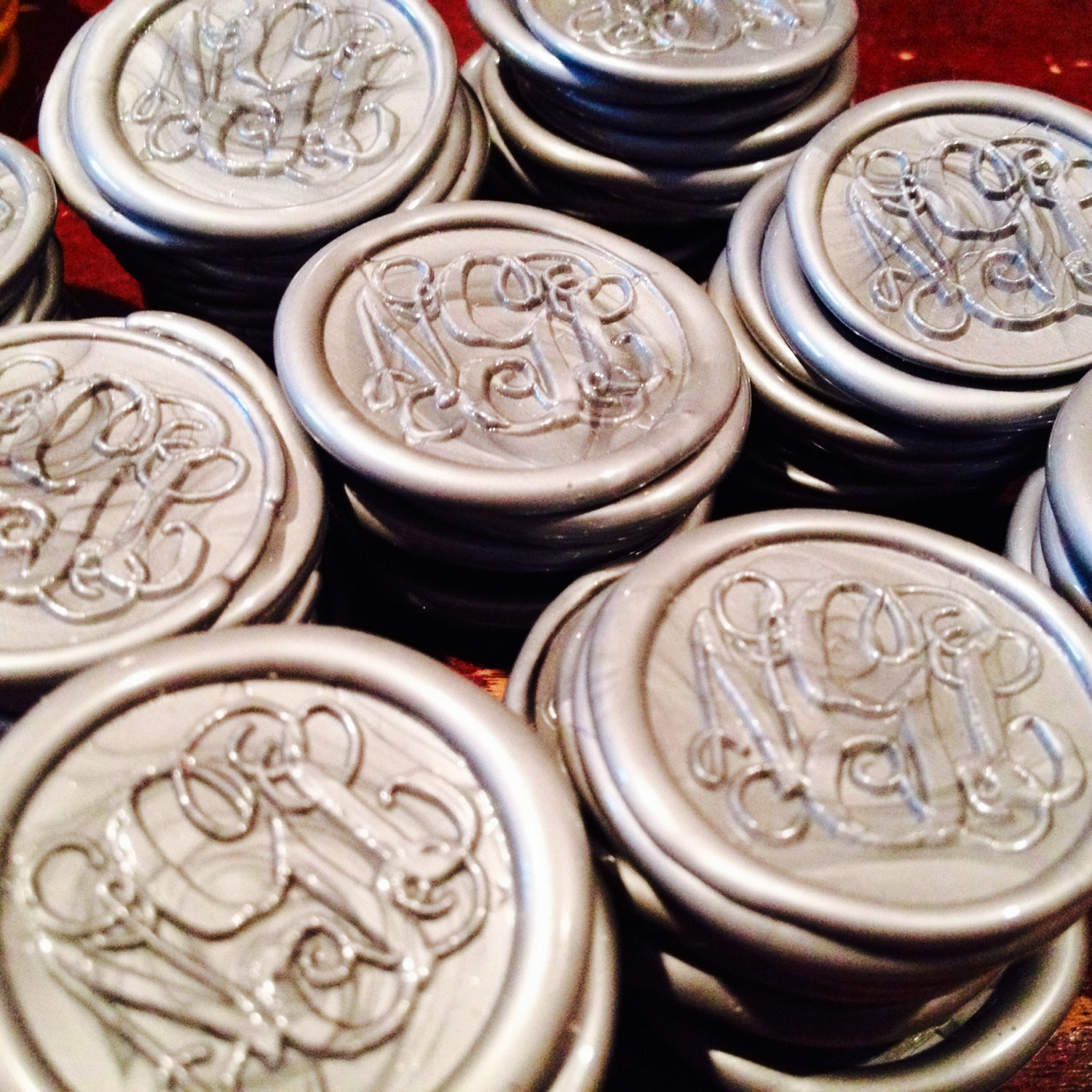 Peal And Stick Monogram Wax Seals