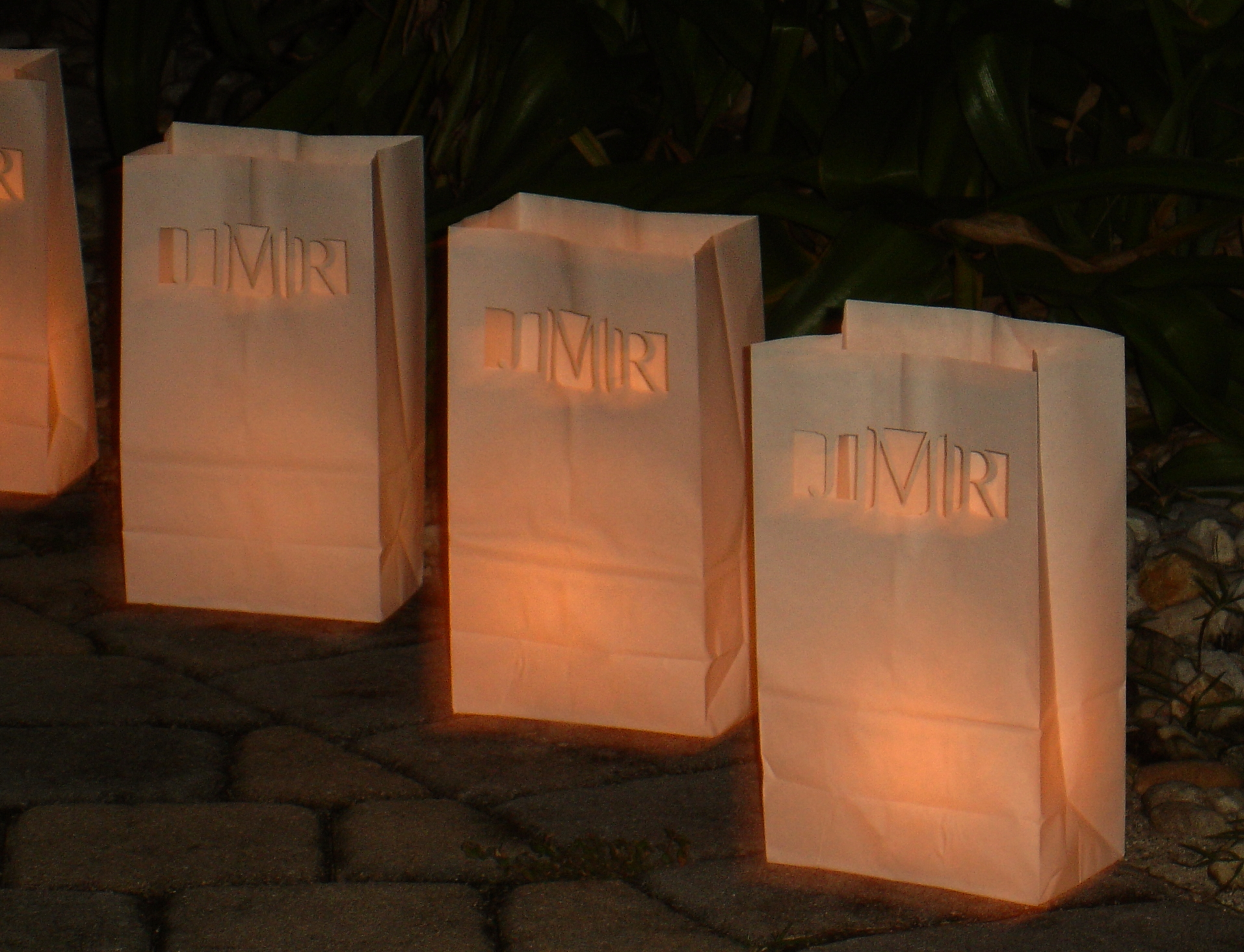 Luminary Bags With Laser Cut Design