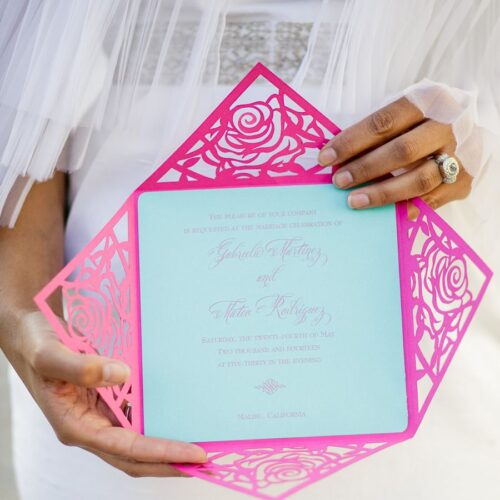 invitations miami stationery custom invitation laser cut coral gables plexiglas letterpress