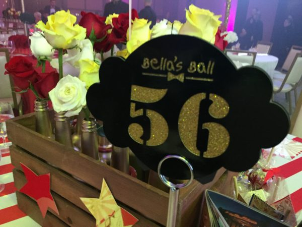 Bella's Ball 2016 Table Numbers