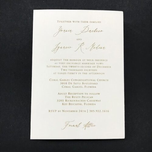 invitations miami stationery custom invitation laser cut coral gables plexiglas